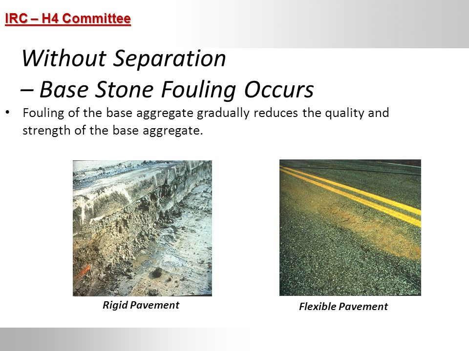 Without Separation – Base Stone Fouling Occurs