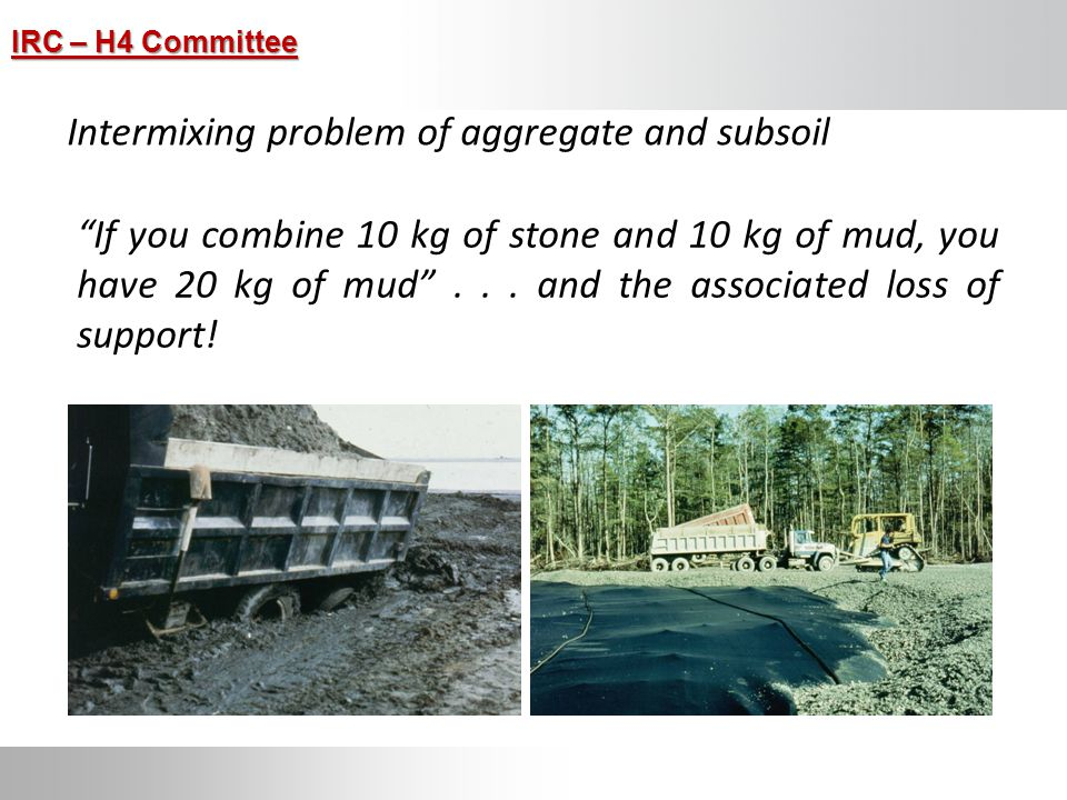 Intermixing problem of aggregate and subsoil