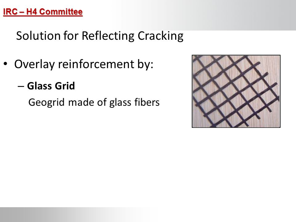 Solution for Reflecting Cracking