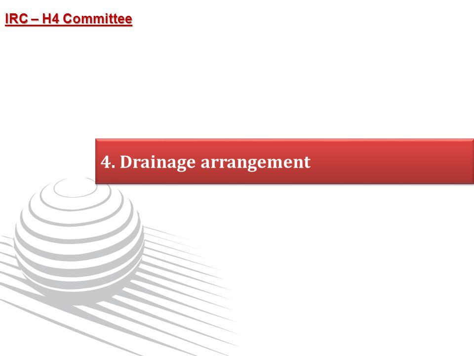 4. Drainage arrangement