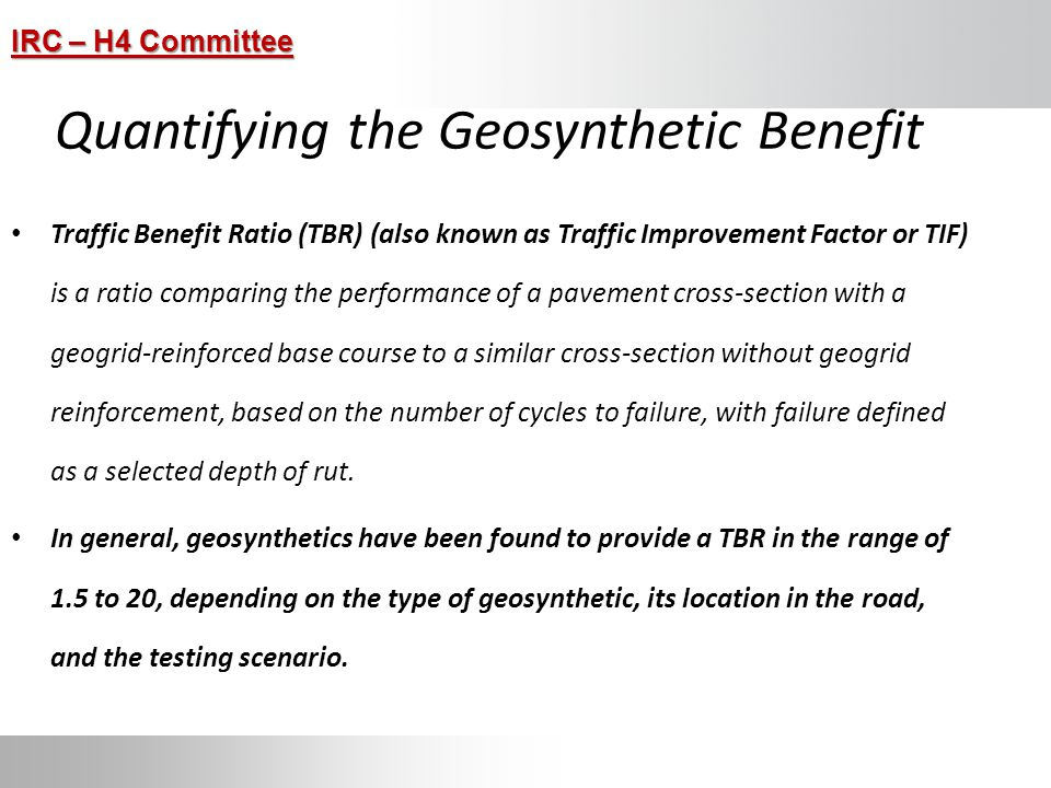 Quantifying the Geosynthetic Benefit
