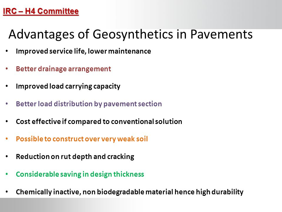 Advantages of Geosynthetics in Pavements
