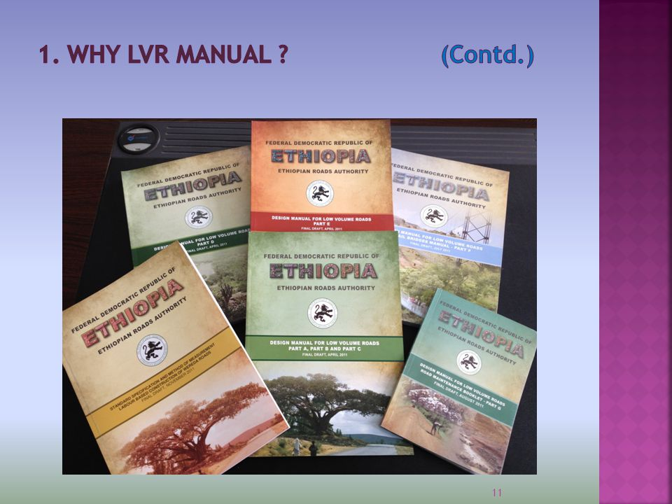 1. WHY LVR MANUAL (Contd.)
