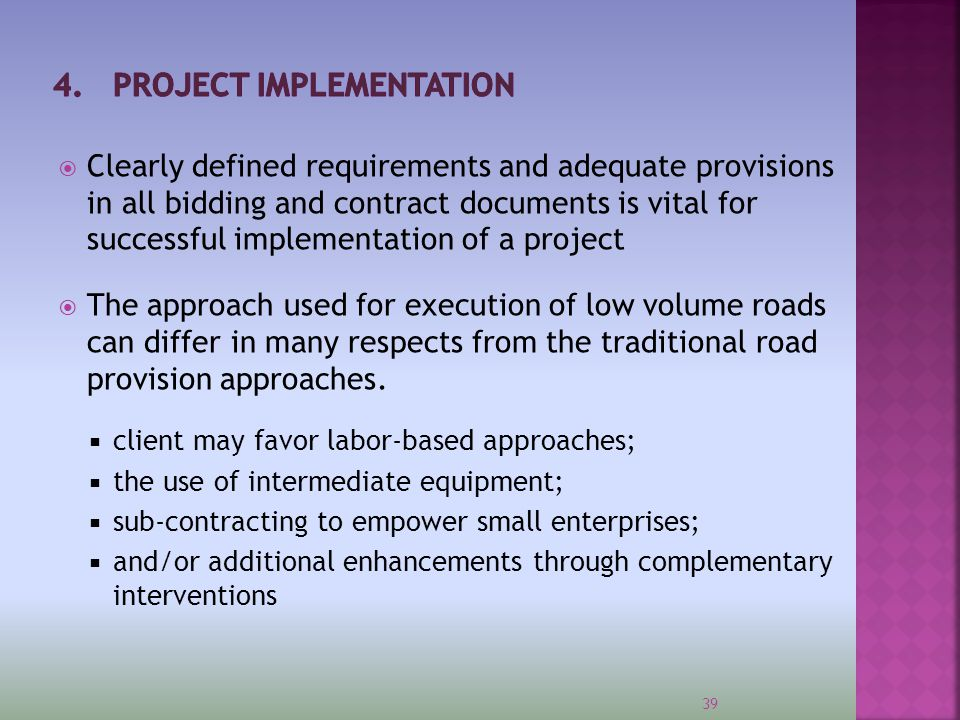4. PROJECT IMPLEMENTATION