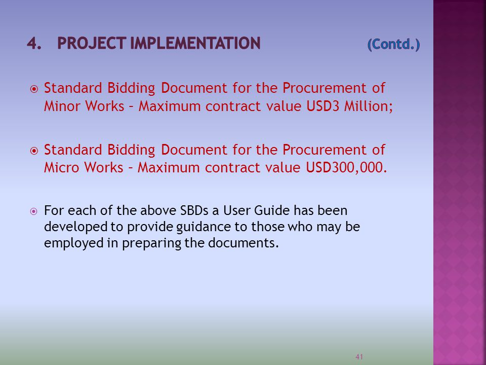 4. PROJECT IMPLEMENTATION (Contd.)