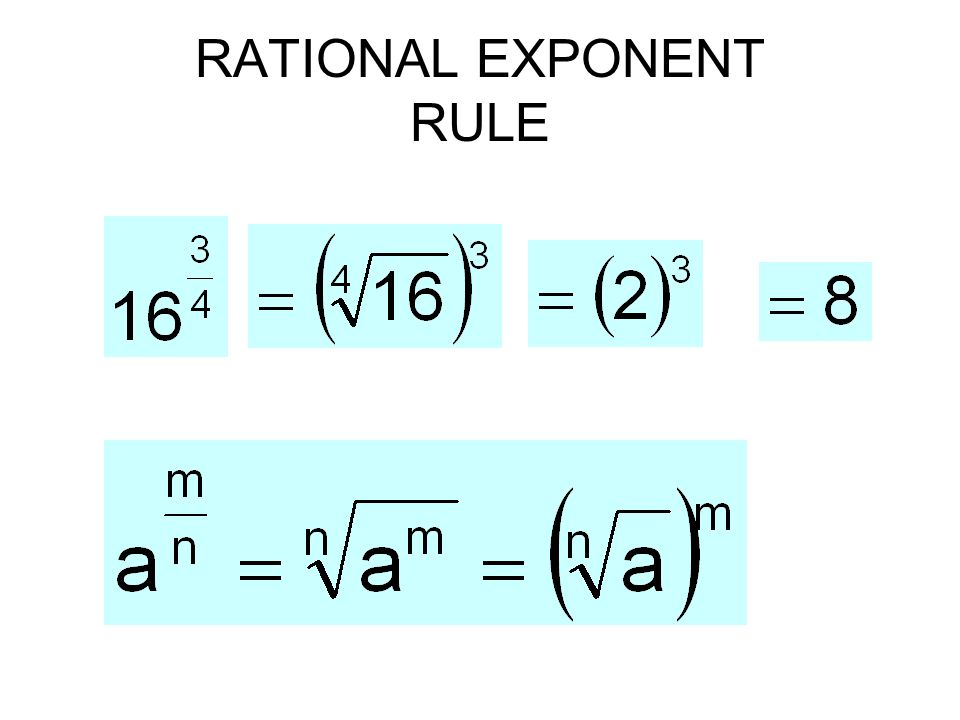 RATIONAL EXPONENT RULE
