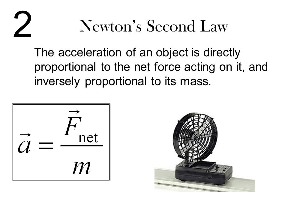 2 Newton's Second Law.