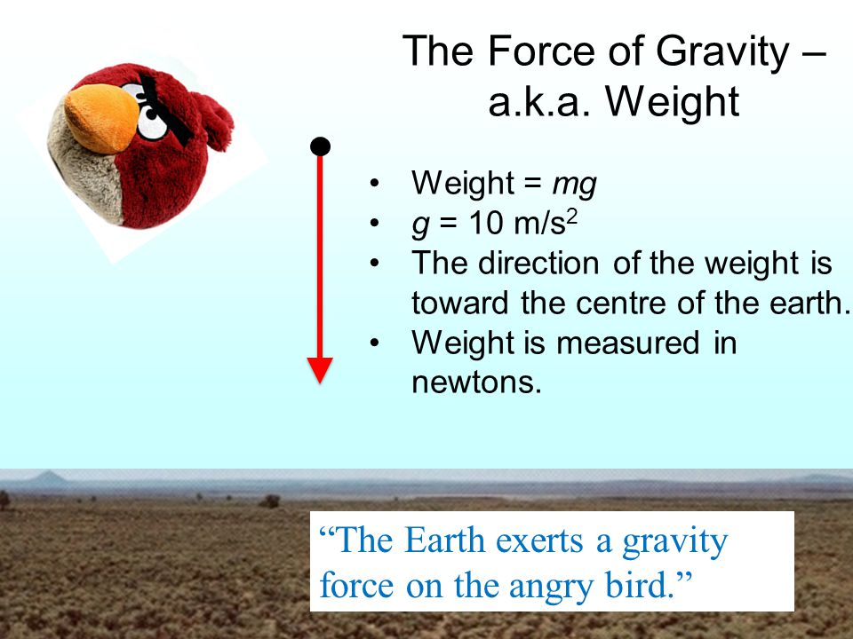 The Force of Gravity – a.k.a. Weight