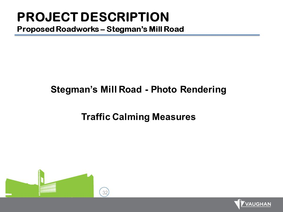 Stegman's Mill Road - Photo Rendering Traffic Calming Measures