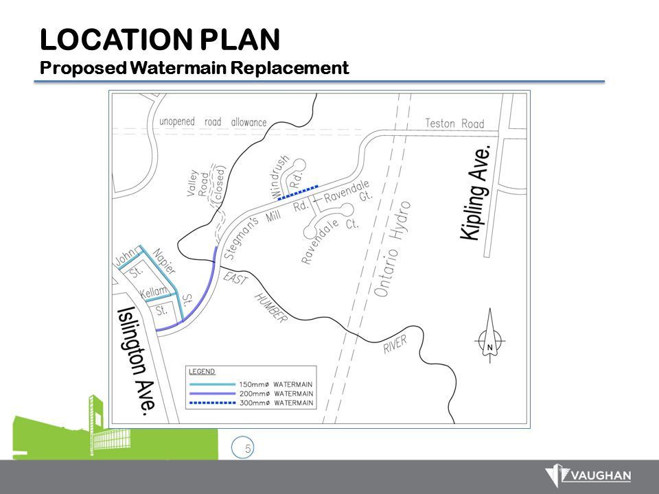 LOCATION PLAN Proposed Watermain Replacement