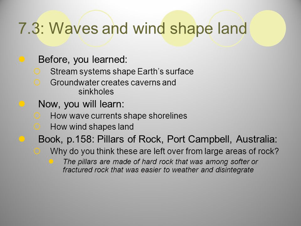 7.3: Waves and wind shape land