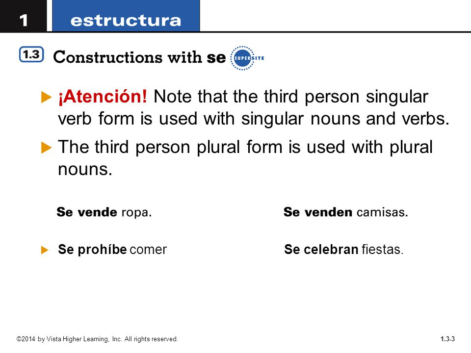 The third person plural form is used with plural nouns.