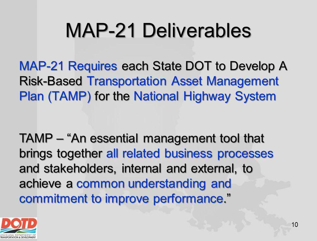 MAP-21 Deliverables