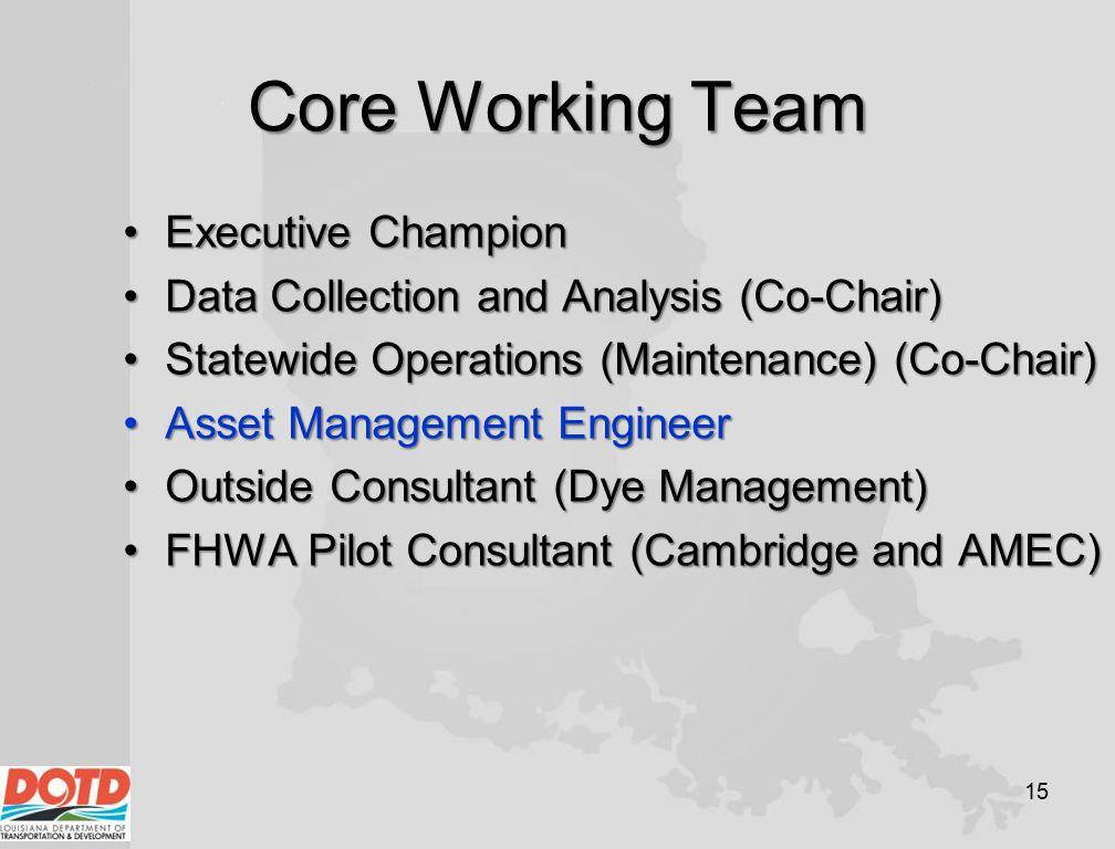 Core Working Team Executive Champion