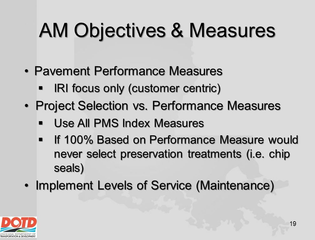 AM Objectives & Measures