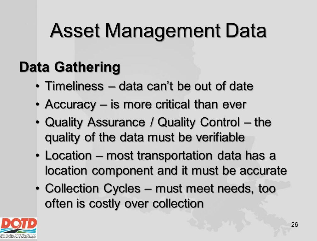 Asset Management Data Data Gathering