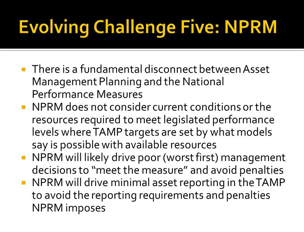 Evolving Challenge Five: NPRM