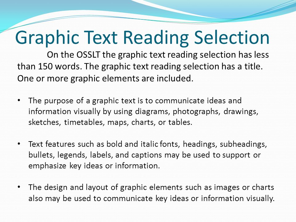 Graphic Text Reading Selection