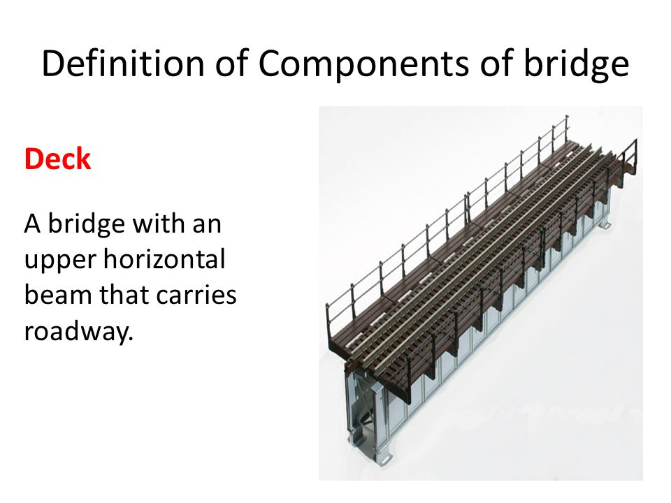 Definition of Components of bridge