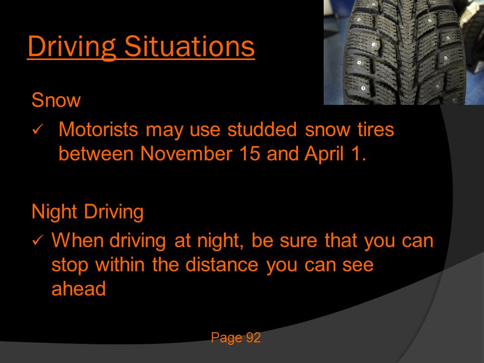 Driving Situations Snow