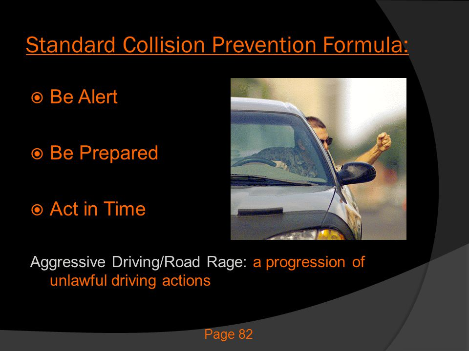 Standard Collision Prevention Formula: