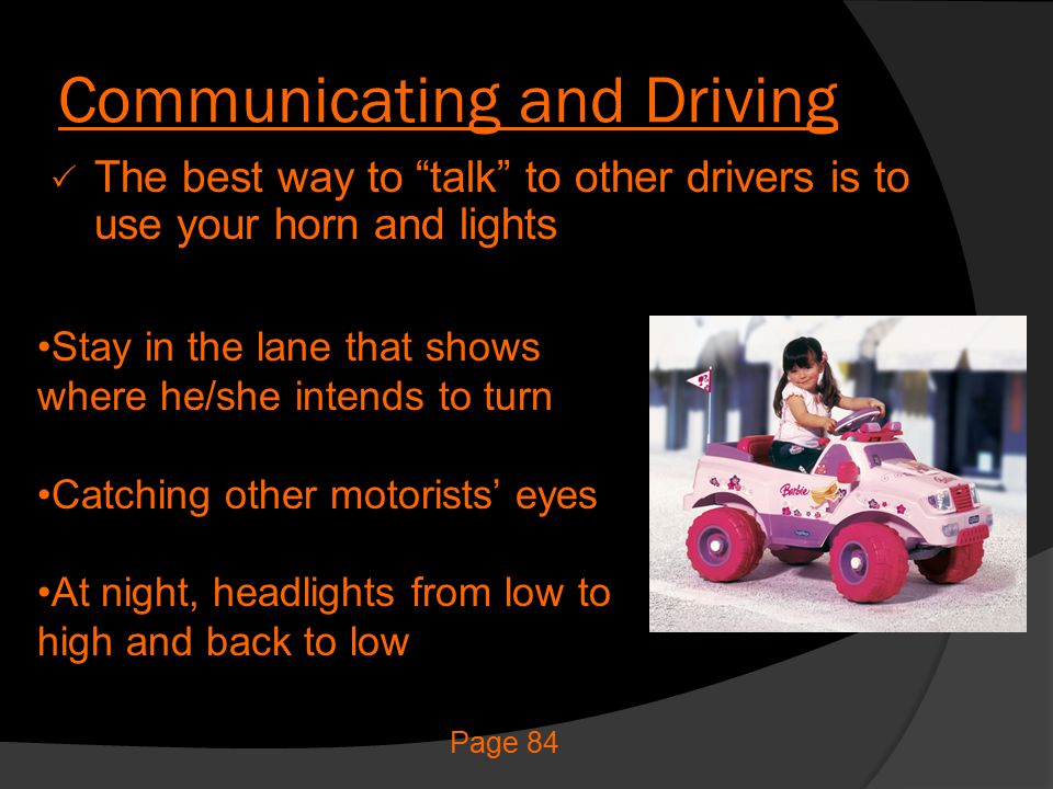 Communicating and Driving