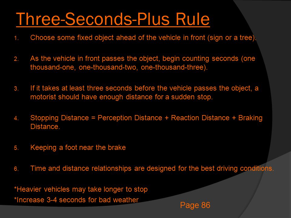 Three-Seconds-Plus Rule