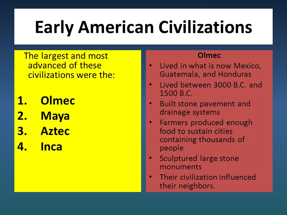 First Civilizations (North American Empires)