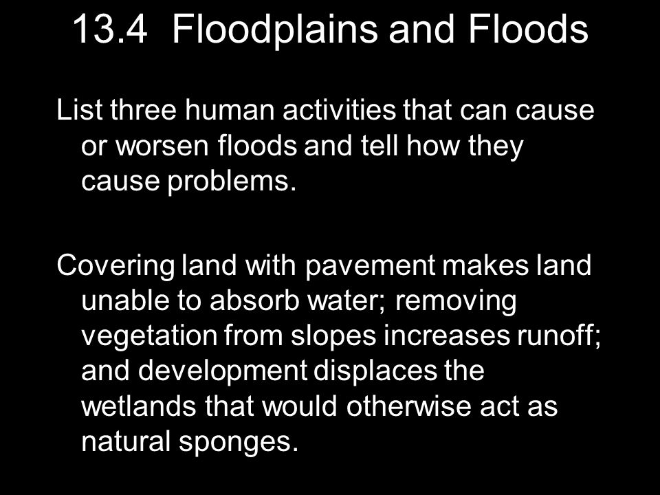 13.4 Floodplains and Floods
