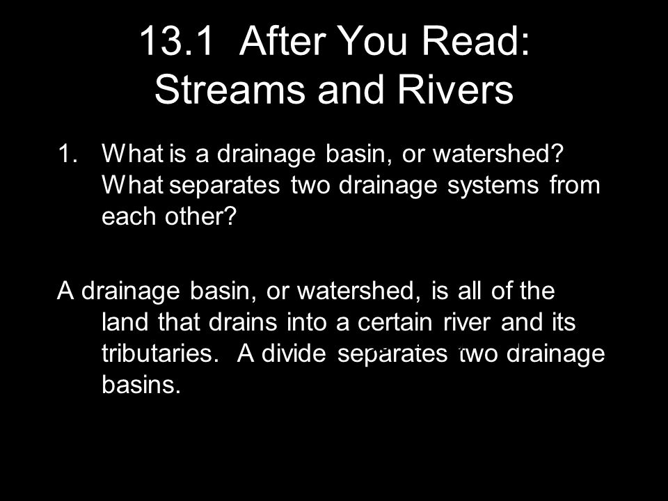 13.1 After You Read: Streams and Rivers