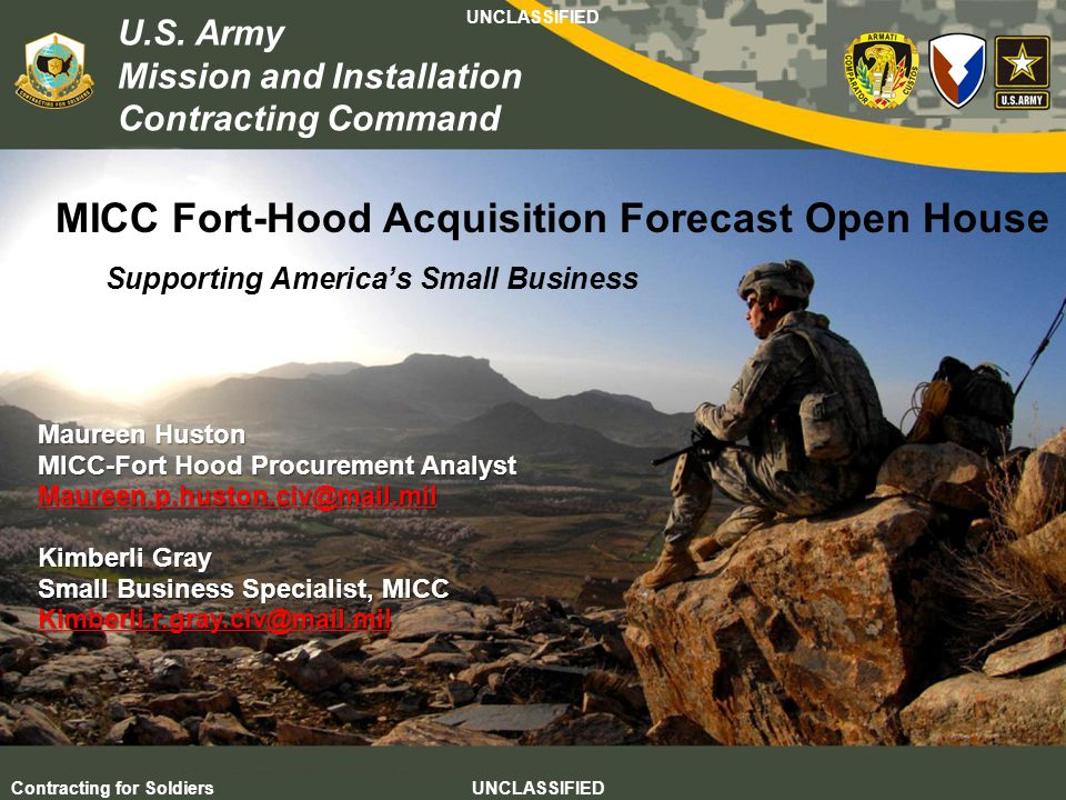 MICC Fort-Hood Acquisition Forecast Open House