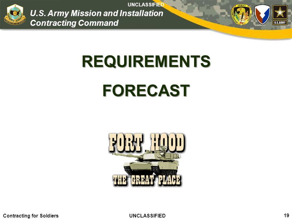 REQUIREMENTS FORECAST