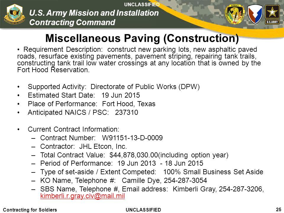 Miscellaneous Paving (Construction)
