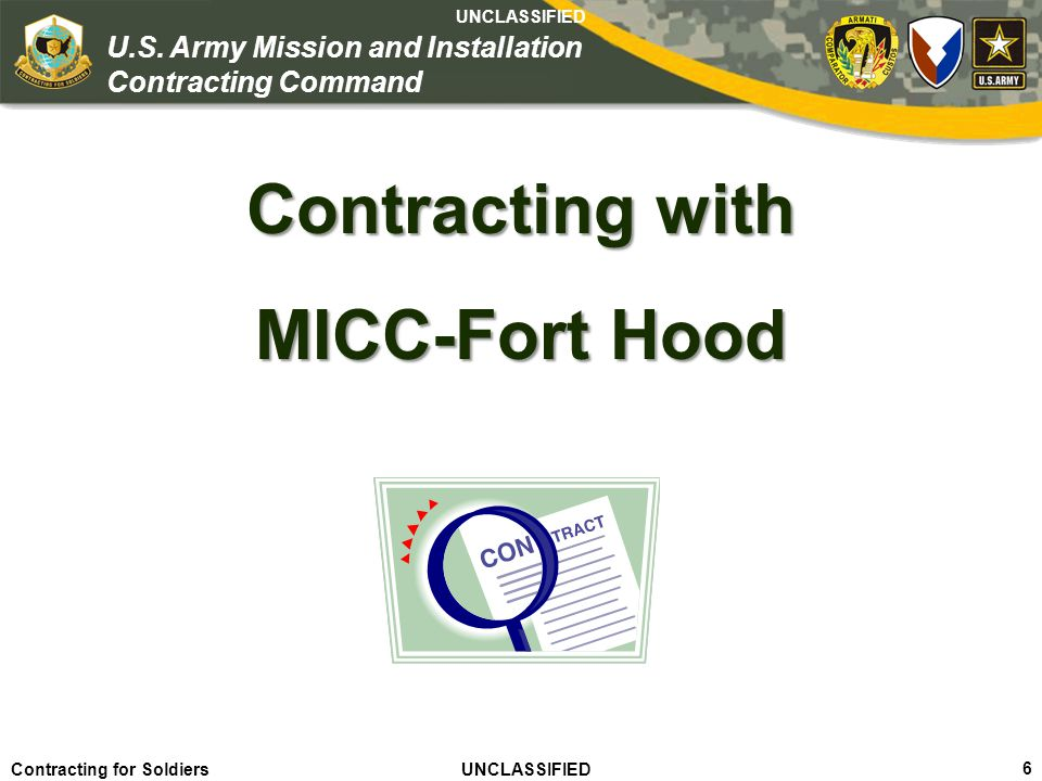 Contracting with MICC-Fort Hood