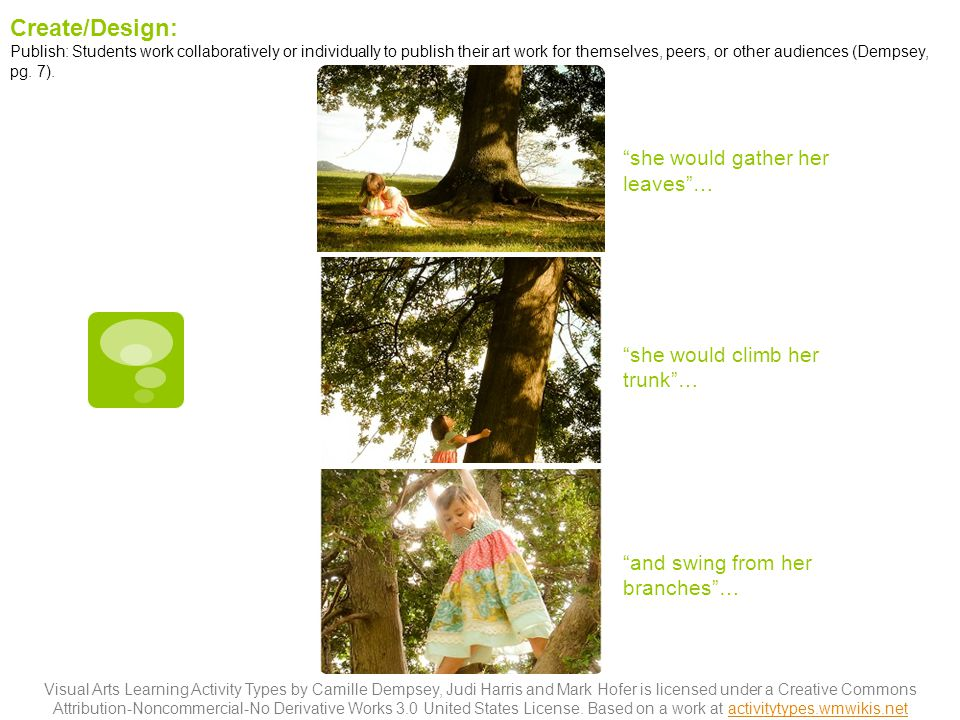 Create/Design: she would gather her leaves …