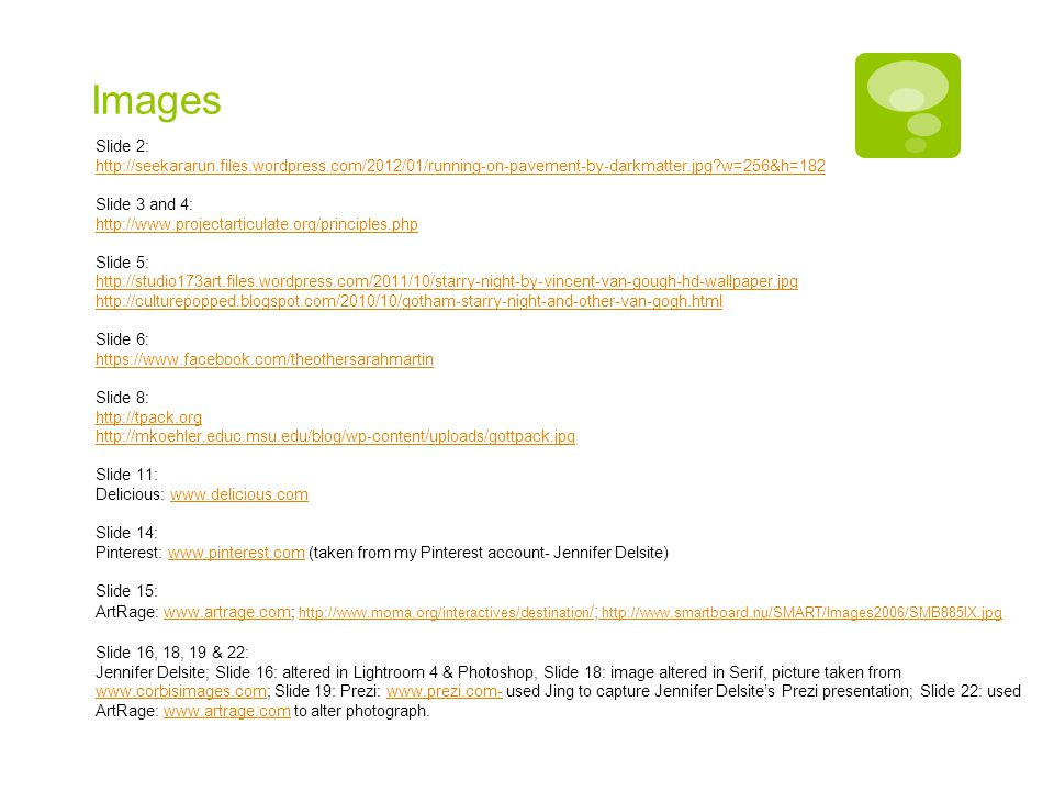 Images Slide 2: http://seekararun.files.wordpress.com/2012/01/running-on-pavement-by-darkmatter.jpg w=256&h=182.