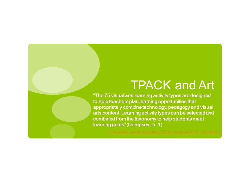TPACK and Art