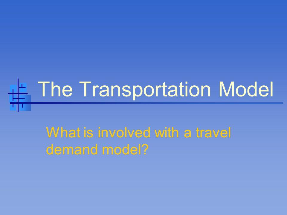 Modeling Process Trip Generation Trip Distribution Mode Analysis