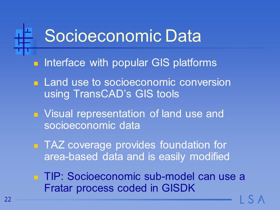Socioeconomic Data and TAZ Structure