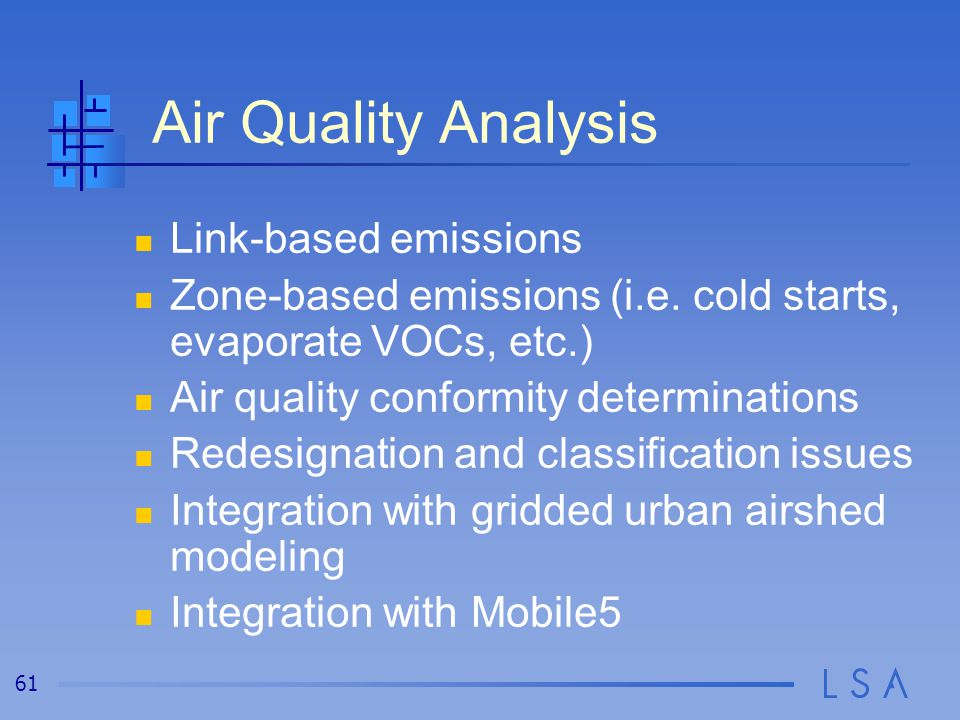 Land Use / Transportation / Air Quality