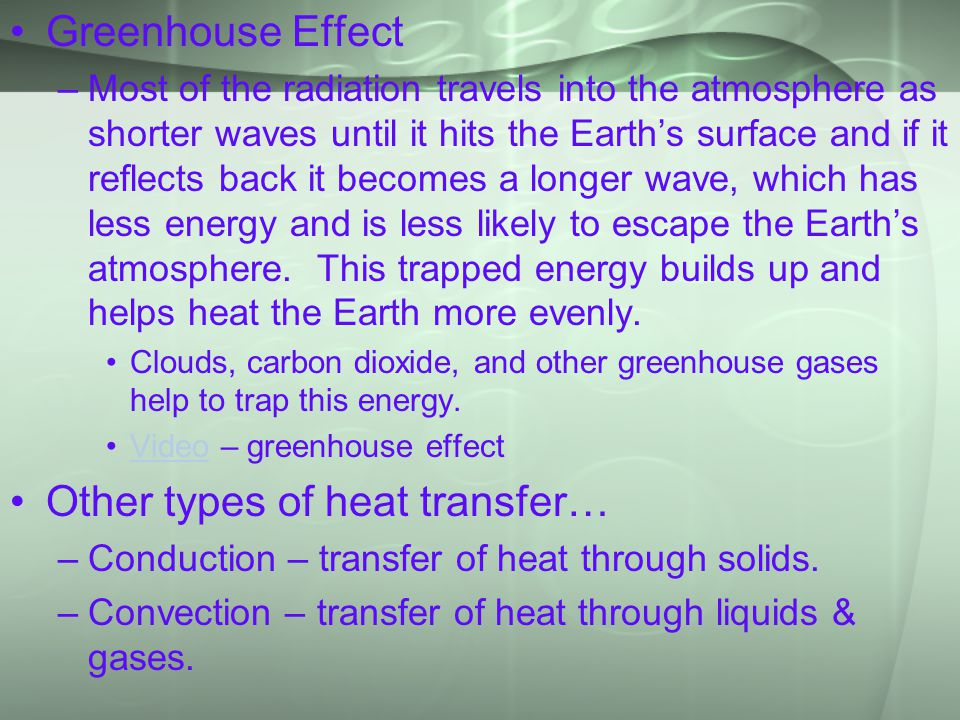 Other types of heat transfer…