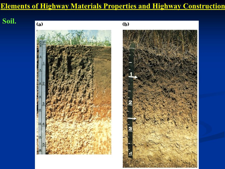 Elements of Highway Materials Properties and Highway Construction