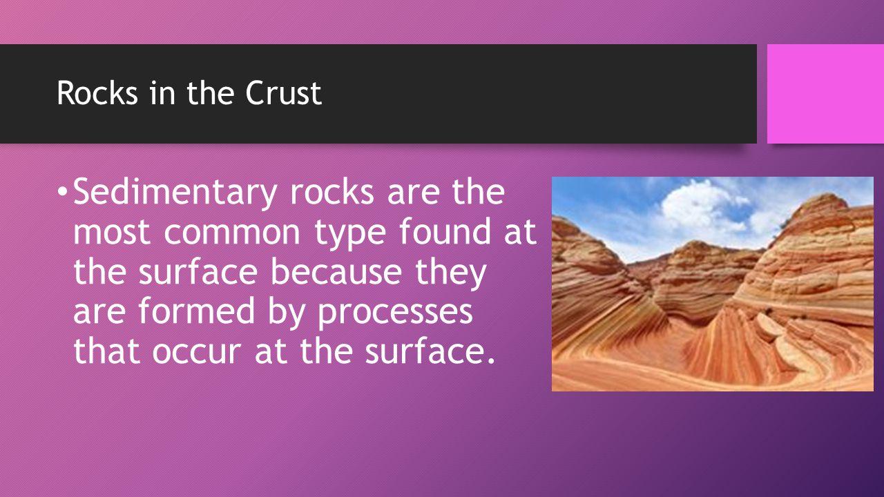 Rocks in the Crust