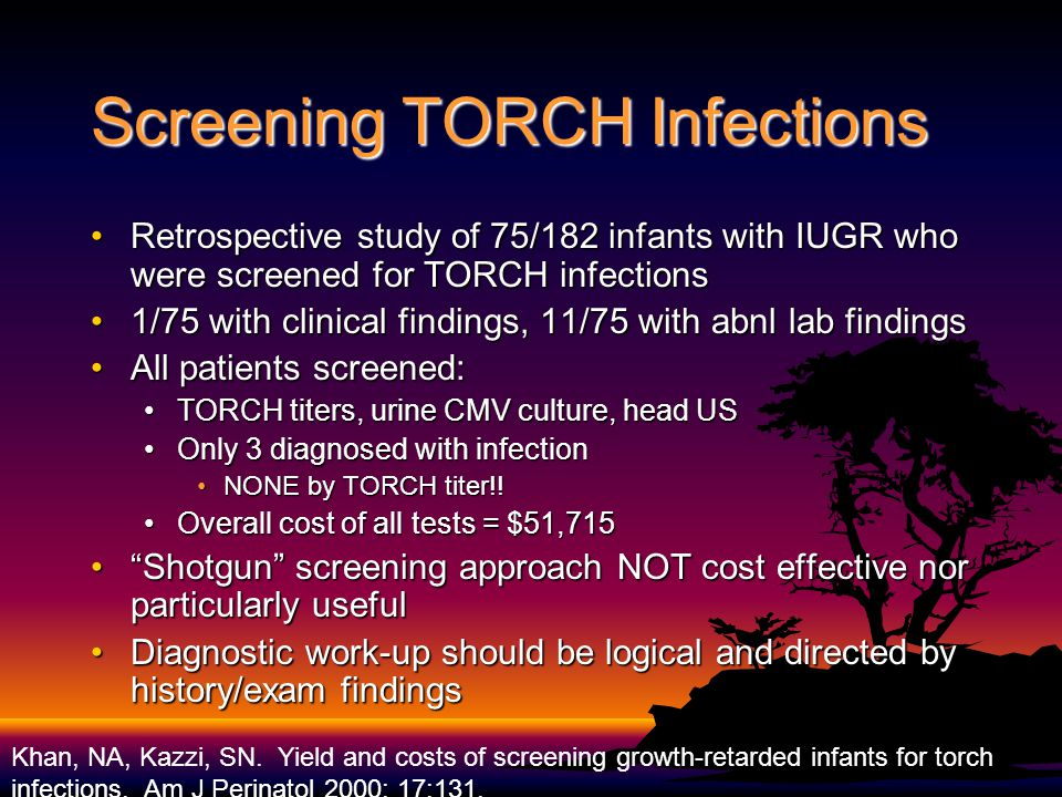 Screening TORCH Infections