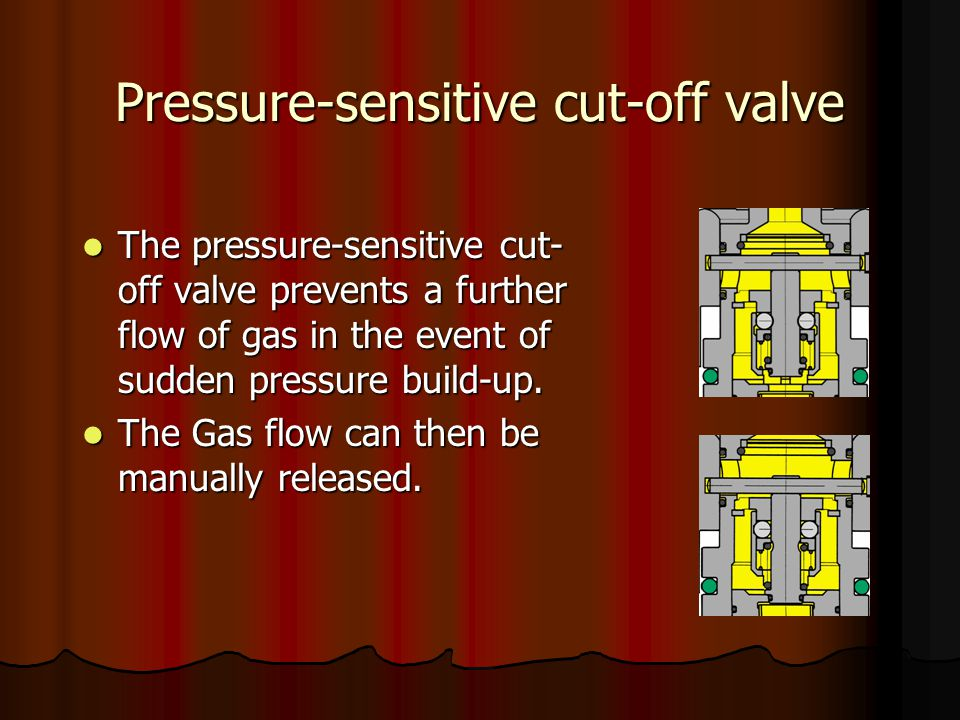 Pressure-sensitive cut-off valve