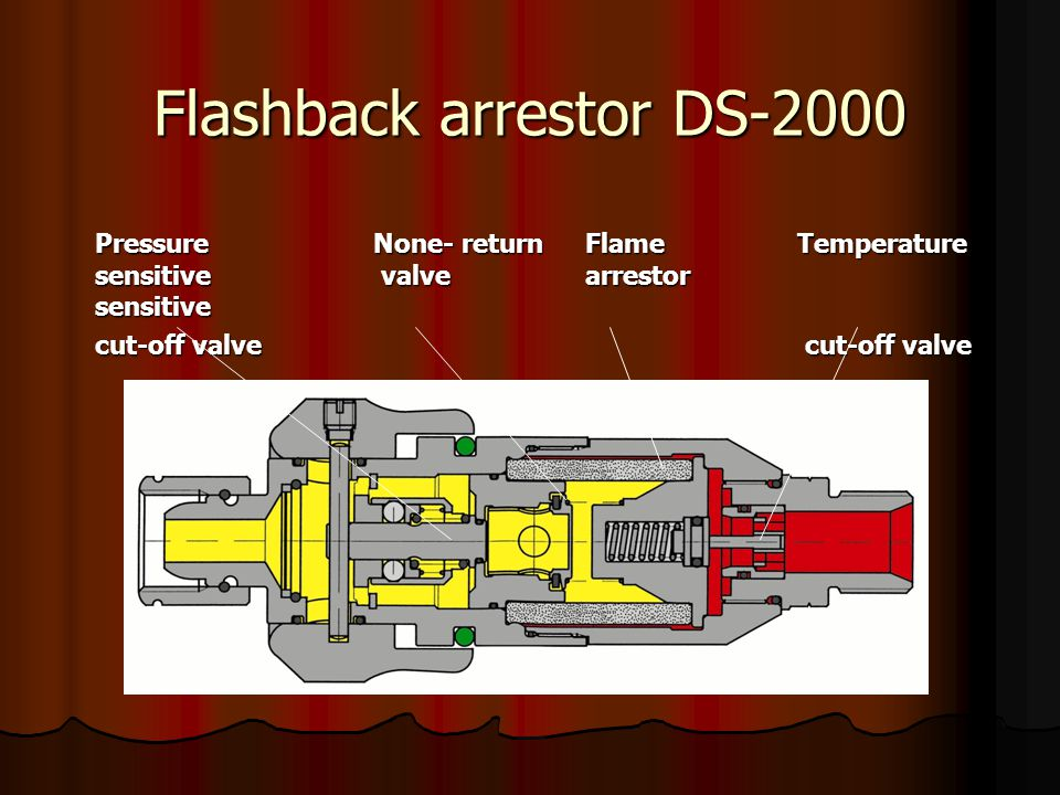 Flashback arrestor DS-2000