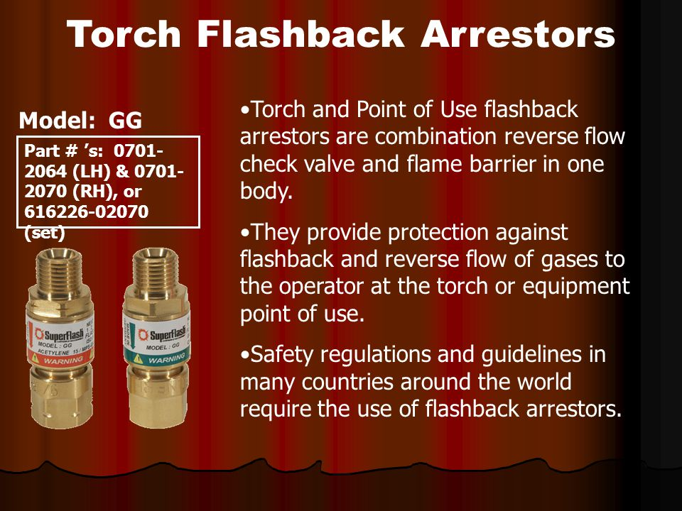 Torch Flashback Arrestors