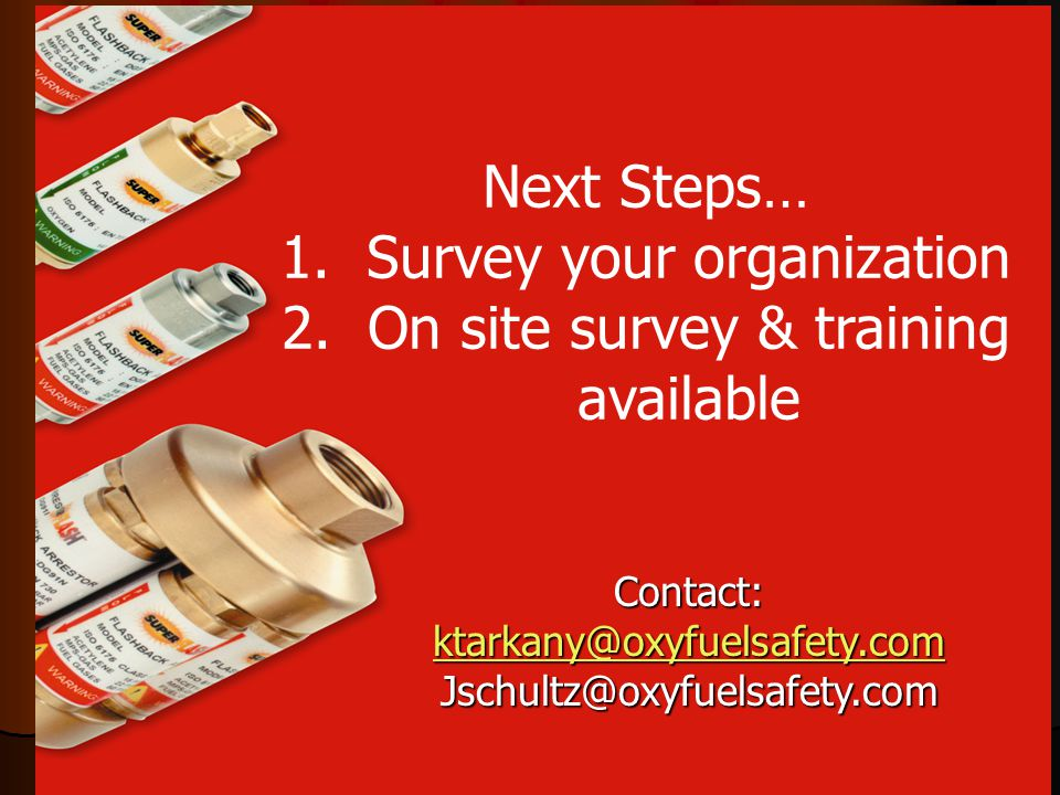 Survey your organization On site survey & training available