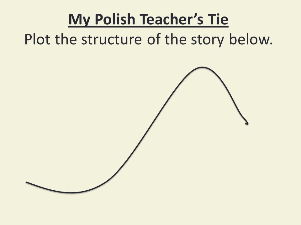 My Polish Teacher's Tie Plot the structure of the story below.