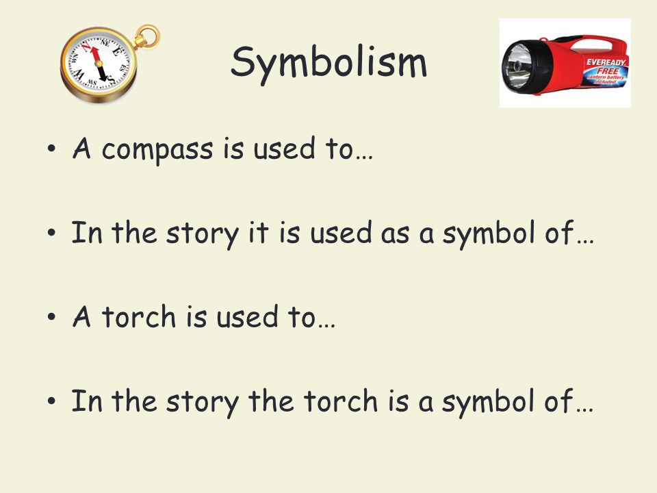 Symbolism A compass is used to…